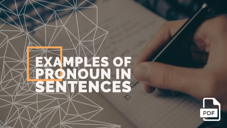20 Examples Of Pronoun In A Sentence Pdf English Compositions