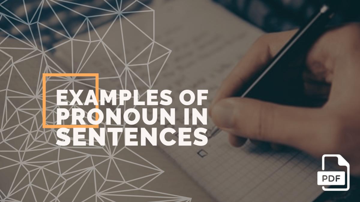 20+ Examples of Pronoun in a Sentence [PDF]