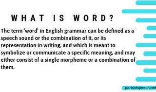 What is Word in English Grammar? [PDF]
