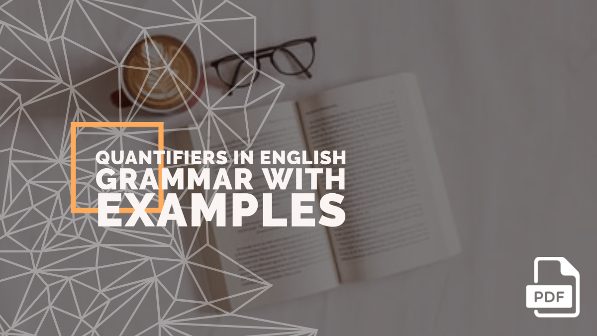 Quantifiers in English Grammar with Examples [PDF]