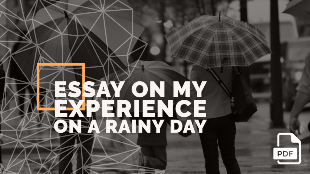 rainy day experience essay feature image