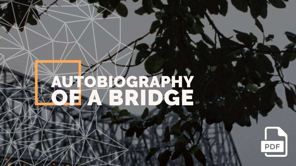 Autobiography of a Bridge (Howrah Bridge) [2000 Words]