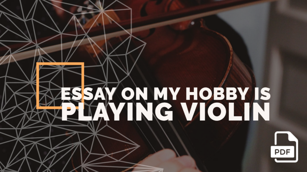 Essay on My Hobby is Playing Violin feature image