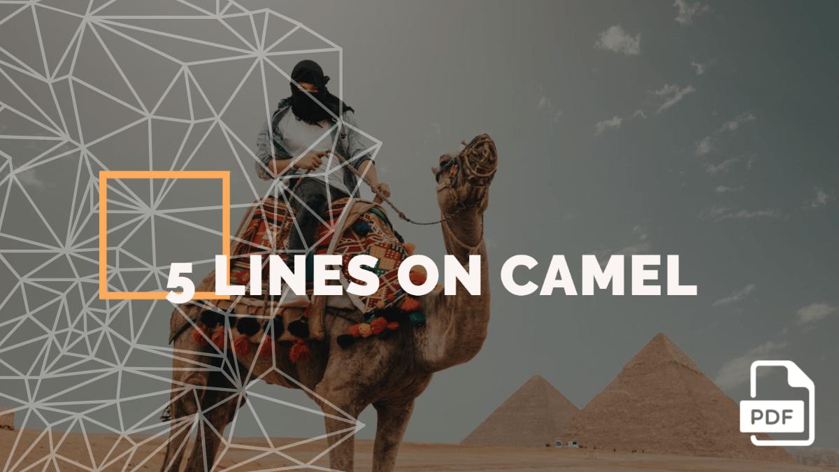 5 lines on Camel [PDF]