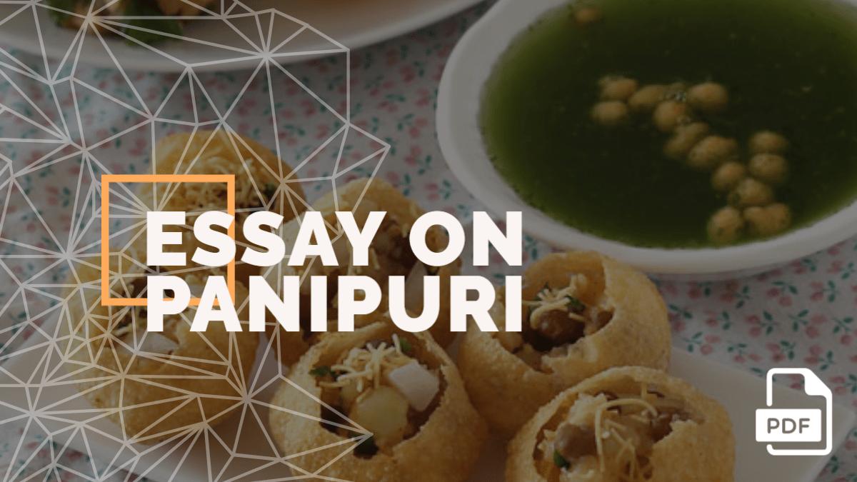 An Essay on Panipuri [PDF]