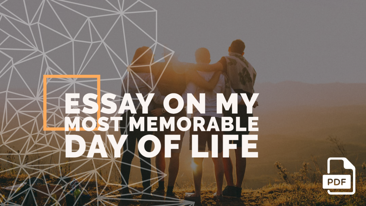 Essay on My Most Memorable Day of Life
