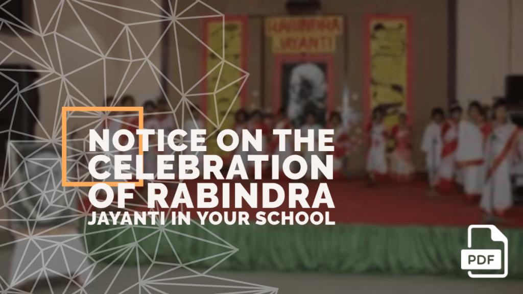 feature image of notice writing on rabindra jayanti celebration