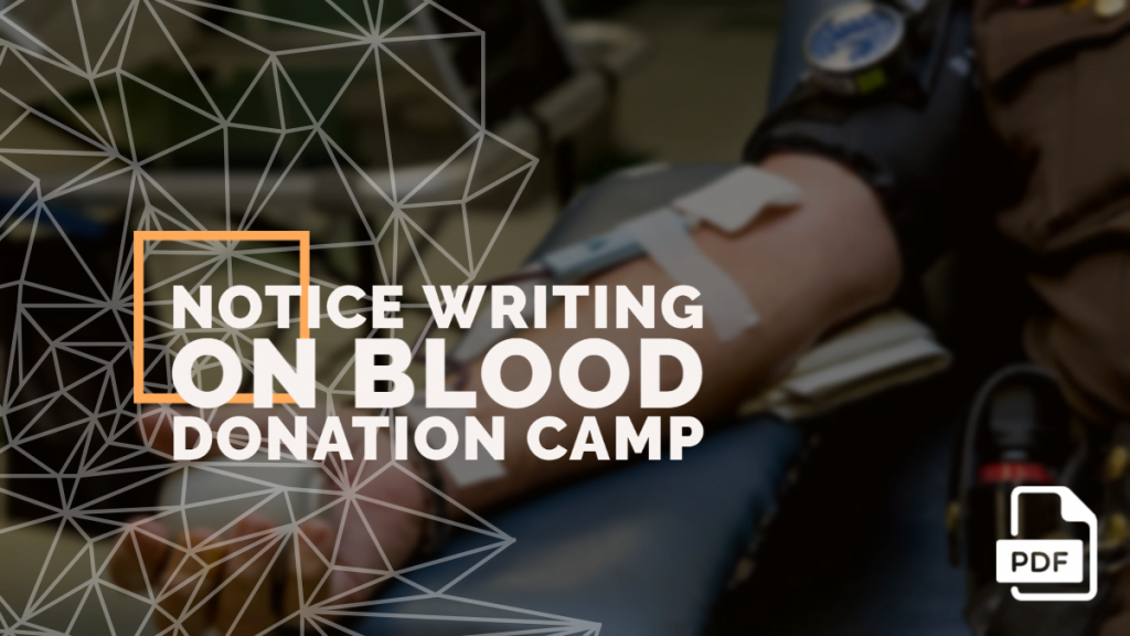 feature image of notice on blood donation camp