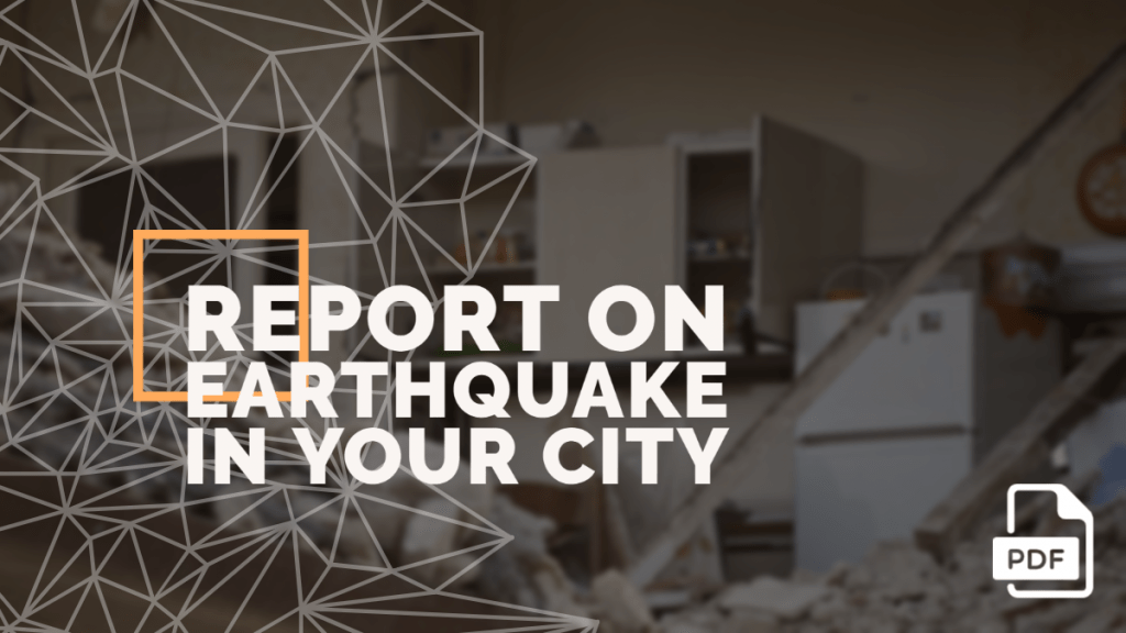 feature image of Report on Earthquake in Your City