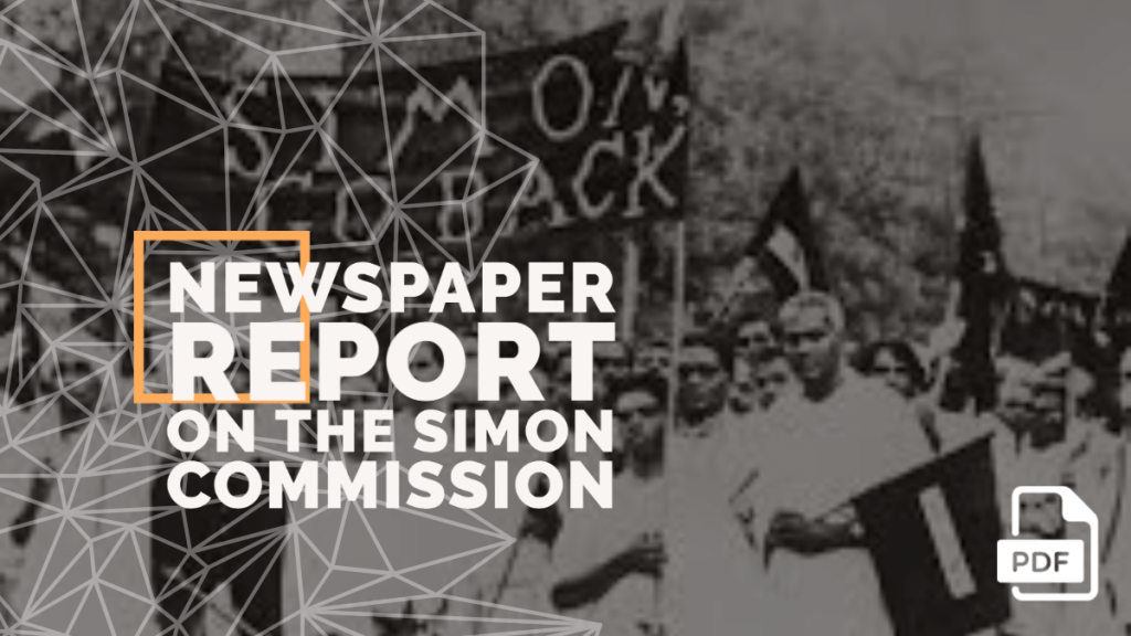 Report on the Simon Commission