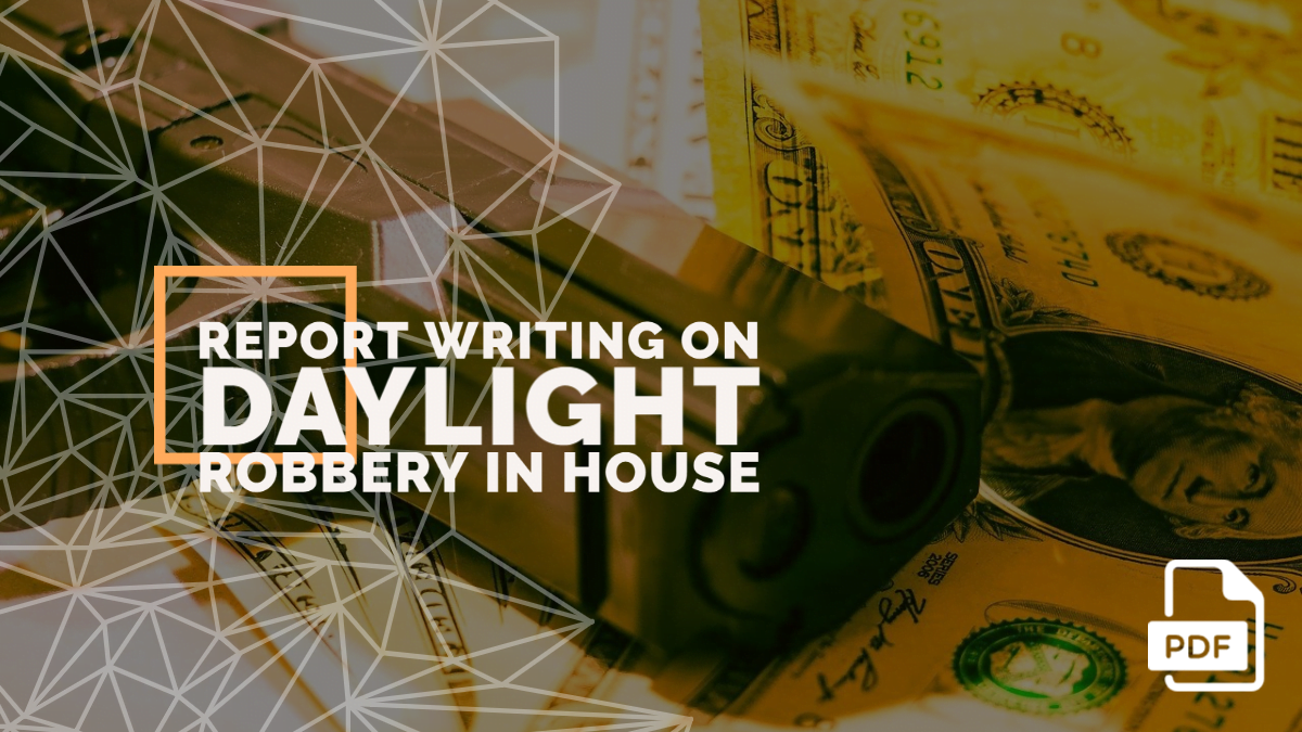 Report Writing on Daylight Robbery in House [With PDF]