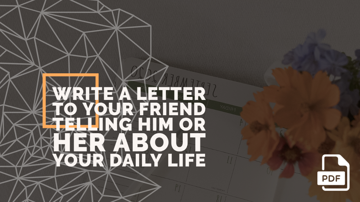 Write a Letter to Your Friend Telling Him or Her about Your Daily Life [With PDF]