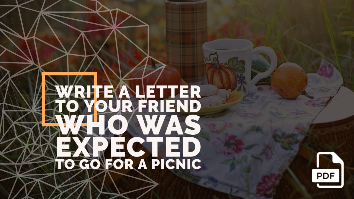 Write a Letter to Your Friend Who was Expected to Go for a Picnic
