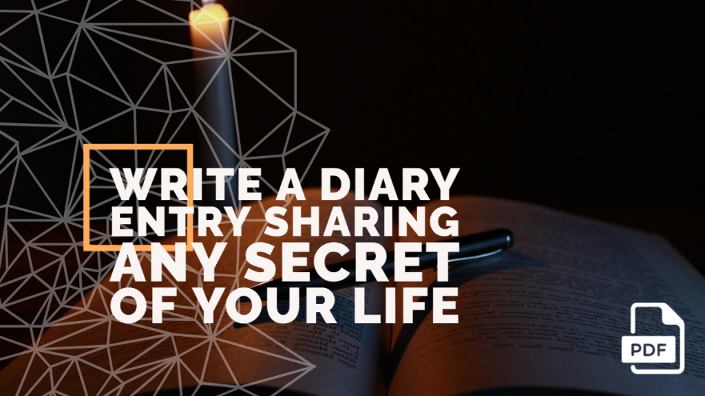 Feature image of Diary Entry Sharing Any Secret of Your Life