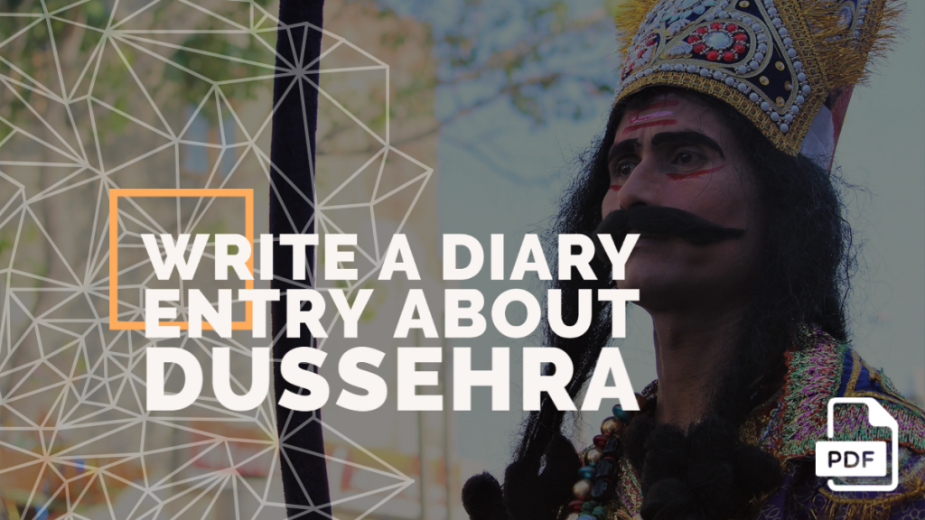 Feature image of Diary Entry about Dussehra