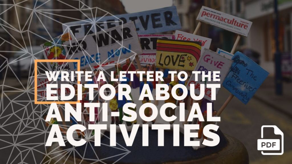 Feature image of Letter to the Editor about Anti-social Activities