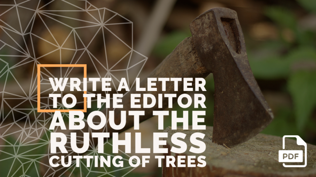 Feature image of Letter to the Editor about the Ruthless Cutting of Trees