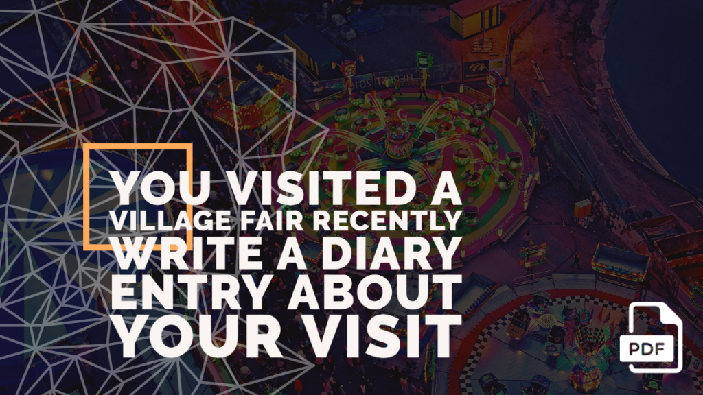 Feature image of diary entry about your visit to the fair