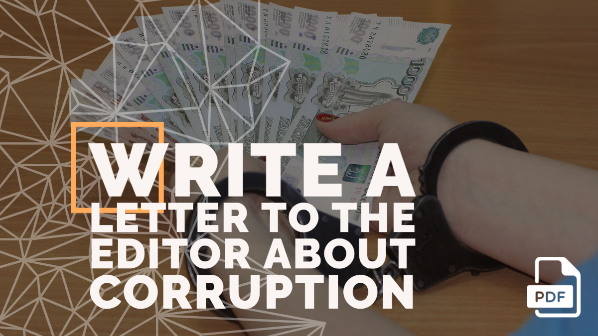 Write a Letter to the Editor About Corruption