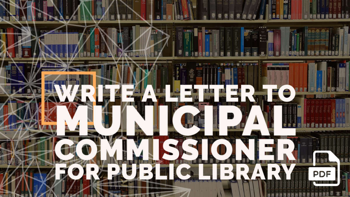 Write a Letter to Municipal Commissioner for Public Library